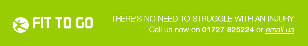 THERE'S NO NEED TO STRUGGLE WITH AN INJURY.  CALL US NOW ON 01727 825224 OR EMAIL US.